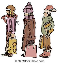 Winter Shoppers
