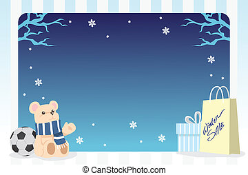 Winter shopping background