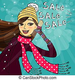Winter shopping sale