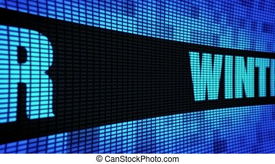 Winter Side Text Scrolling LED Wall Pannel Display Sign...