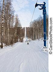 Winter ski track.