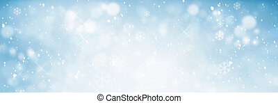 Winter sky - Snowy winter sky background