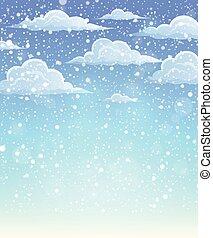Winter sky theme background 1