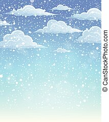 Winter sky theme background 1