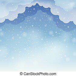 Winter sky theme background 3