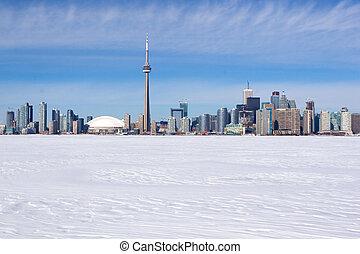 Toronto - Winter skyline of Toronto, Canada