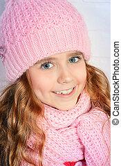 winter smiling girl