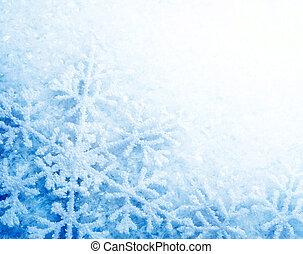 winter, sneeuw, achtergrond., snowflakes