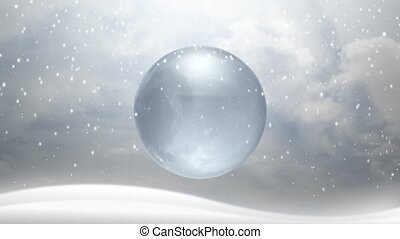 Winter Snow - A cold winter setting with a glass globe...