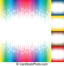 Winter snow abstract rainbow colours background
