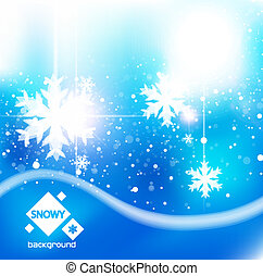 Winter snow blue christmas background