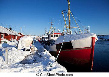 Winter Snow Boat
