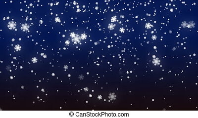 Winter Snow Flake abstract Background