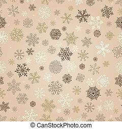 Winter Snow Flakes Doodles. Seamless Background Pattern. Hand-Drawn Vector Illustration. Pattern Swatch