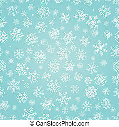 Winter Snow Flakes Doodle Seamless Background - Winter Snow ...