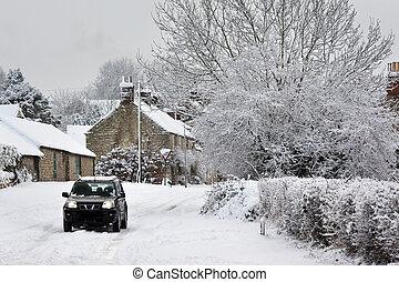 Winter snow in North Yorkshire - United Kingdom