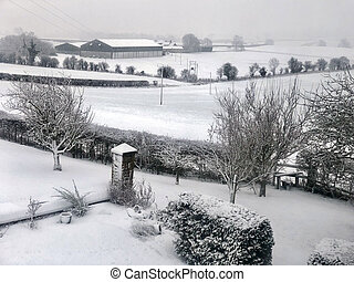Winter snow - North Yorkshire - United Kingdom