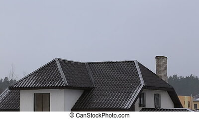 winter snow roof