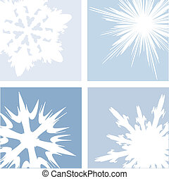Winter snow - Snowflake abstract