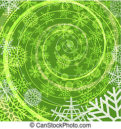 Winter snow storm spiral background