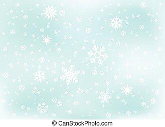 Winter snowfall background. Vector illustration