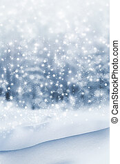 Winter. Snowfall. Photo.