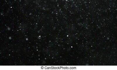 Winter Snowfall Slow Motion - Winter snowfall. Snow Slow...