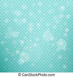 Winter snowfall vector background