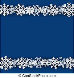Winter Snowflake Blue Background