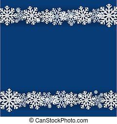 Winter Snowflake Blue Background