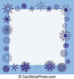 Winter snowflake border - Winter border