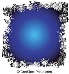 Winter snowflake border