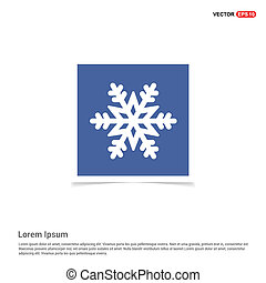 Winter snowflake icon - Blue photo Frame