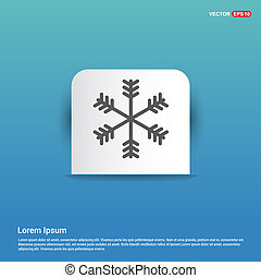 Winter snowflake icon - Blue Sticker button