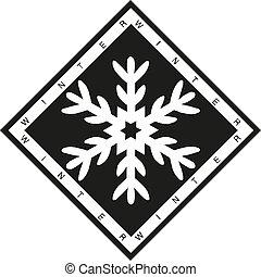 Winter snowflake icon. Isometric of winter snowflake icon vector illustration eps 10