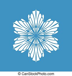 Winter snowflake icon, simple style