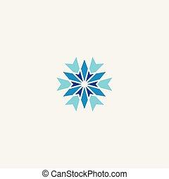 winter snowflake icon symbol logo element