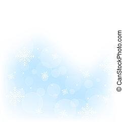 winter, snowflakes, achtergrond, kerstmis