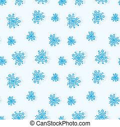Winter snowflakes seamless background
