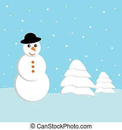 Winter Snowman background