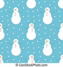 Winter snowman pattern