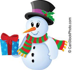 Winter snowman theme image 3
