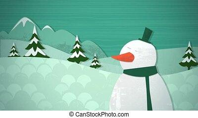 Winter Snowscape Loop HD