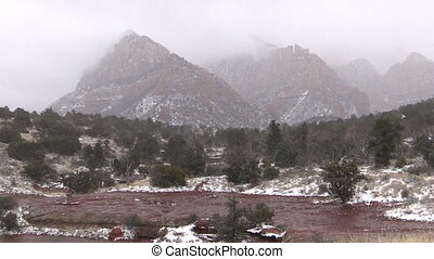 Winter Snowstorm Sedona Arizona - a winter snowstorm in...