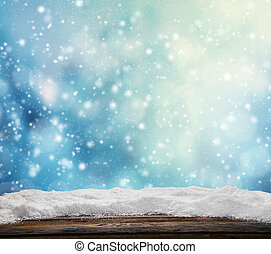Winter snowy abstract background