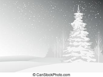 Winter snowy landscape eps8