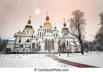 winter Sofia - Sophia Winter evening night shot of the ...