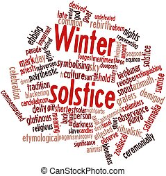 Winter solstice - Abstract word cloud for Winter solstice...