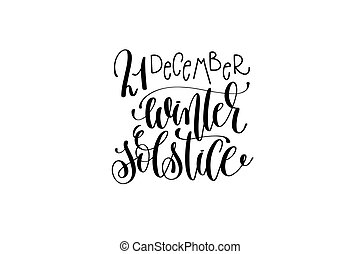 winter solstice hand lettering congratulation inscription to...