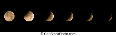 Winter Solstice Lunar Eclipse 2010 - Image showing seven...